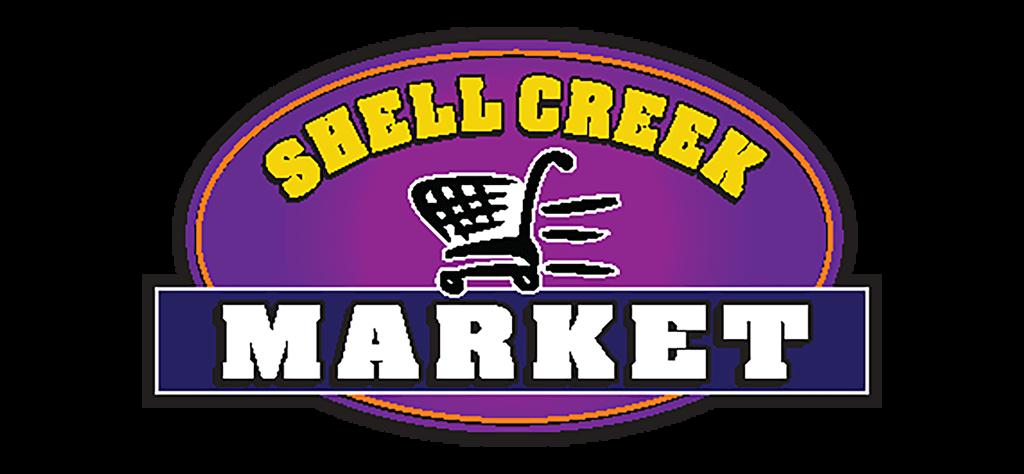 A theme logo of Shell Creek Market